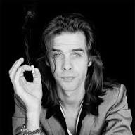 Nick Cave with a cigarette